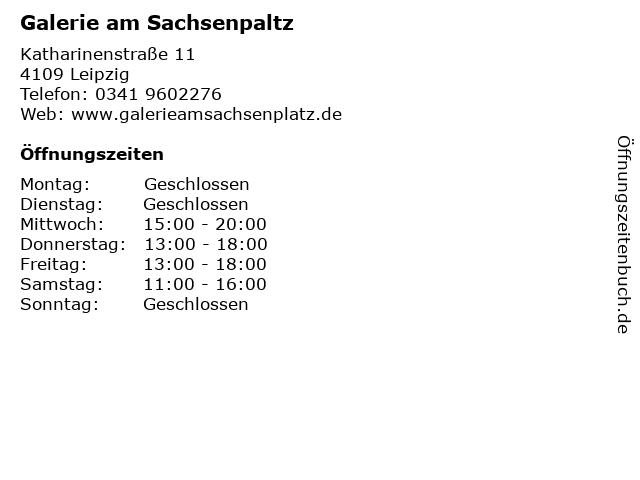 Galerie am Sachsenpaltz in Leipzig: Adresse und Öffnungszeiten