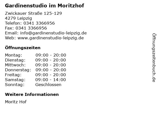 Gardinenstudio im Moritzhof in Leipzig: Adresse und Öffnungszeiten