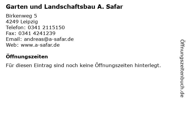 ᐅ Offnungszeiten Garten Und Landschaftsbau A Safar
