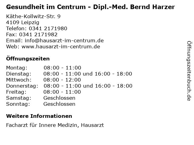 Gesundheit im Centrum - Dipl.-Med. Bernd Harzer in Leipzig: Adresse und Öffnungszeiten
