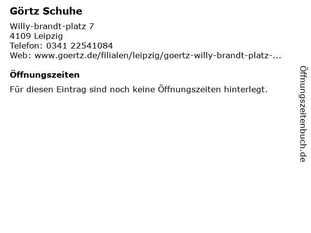 Görtz Schuhe in Leipzig: Adresse und Öffnungszeiten