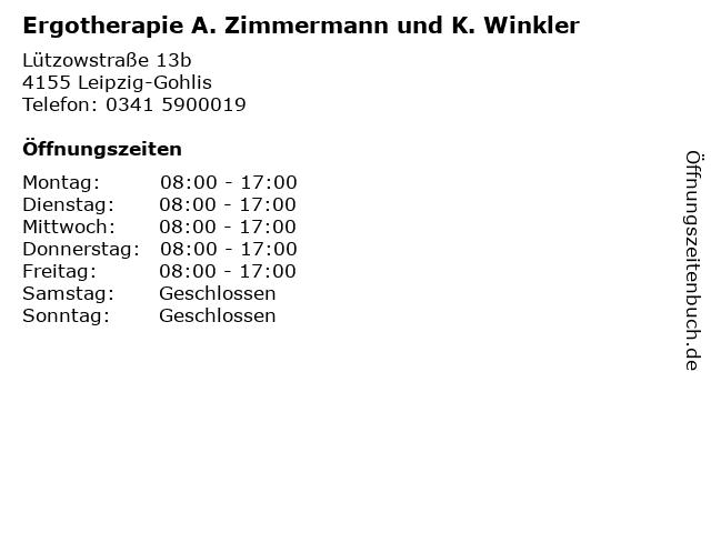 Ergotherapie A. Zimmermann und K. Winkler in Leipzig-Gohlis: Adresse und Öffnungszeiten