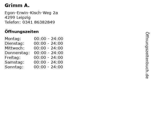 Grimm A. in Leipzig: Adresse und Öffnungszeiten
