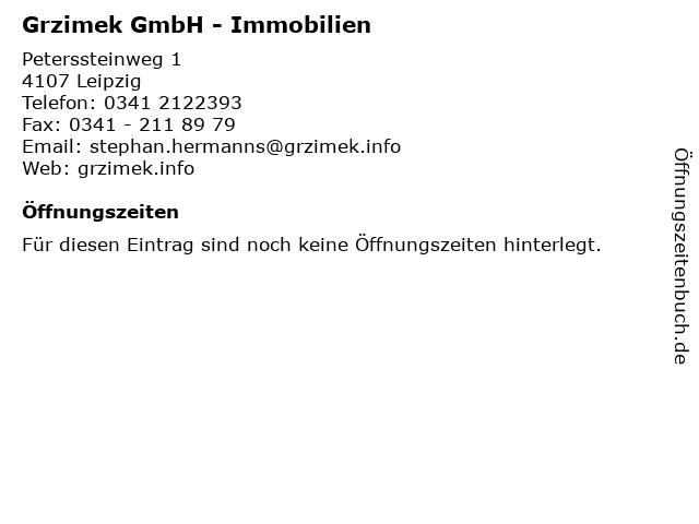 Grzimek GmbH in Leipzig: Adresse und Öffnungszeiten
