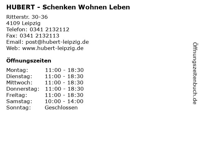 HUBERT - Schenken Wohnen Leben in Leipzig: Adresse und Öffnungszeiten