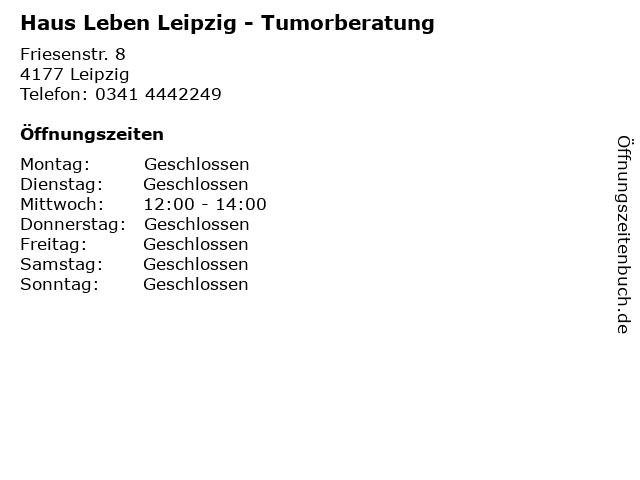 Haus Leben Leipzig - Tumorberatung in Leipzig: Adresse und Öffnungszeiten