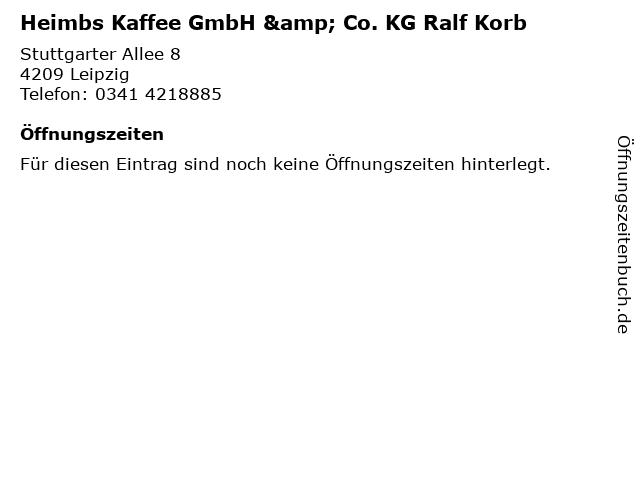 Heimbs Kaffee GmbH & Co. KG Ralf Korb in Leipzig: Adresse und Öffnungszeiten