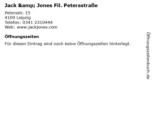 Jack & Jones Fil. Petersstraße in Leipzig: Adresse und Öffnungszeiten