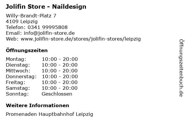 Jolifin Store in Leipzig: Adresse und Öffnungszeiten