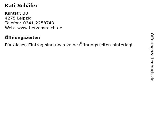 Kati Schäfer in Leipzig: Adresse und Öffnungszeiten