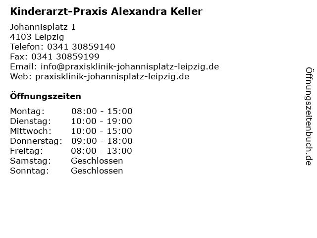 Kinderarzt-Praxis Alexandra Keller in Leipzig: Adresse und Öffnungszeiten