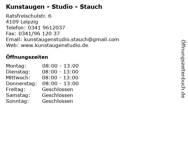 Kunstaugen - Studio - Stauch in Leipzig: Adresse und Öffnungszeiten