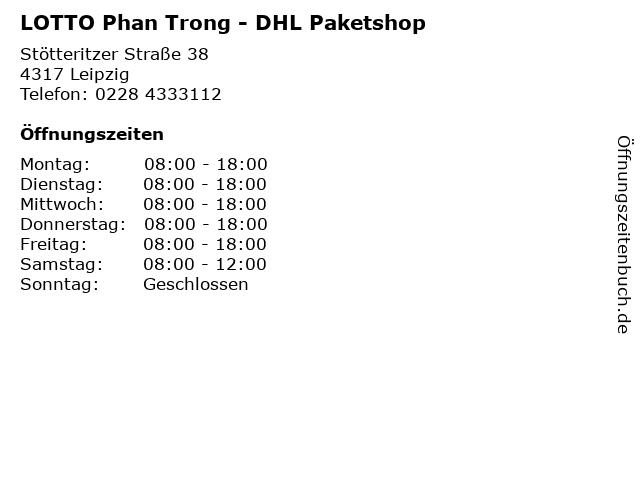 LOTTO Phan Trong - DHL Paketshop in Leipzig: Adresse und Öffnungszeiten