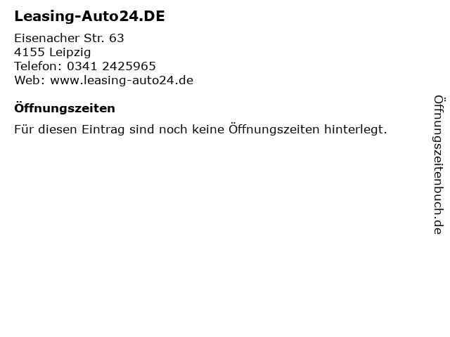 ᐅ öffnungszeiten Leasing Auto24de Eisenacher Str 63 In Leipzig