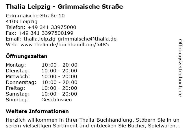 Lehmanns in Leipzig: Adresse und Öffnungszeiten