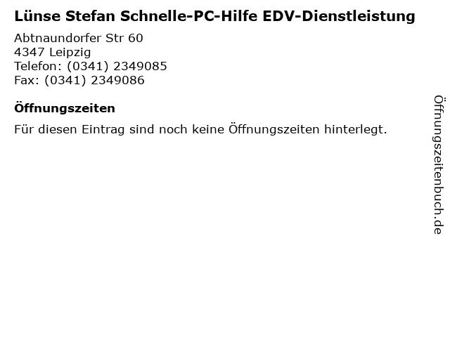 Lünse Stefan Schnelle-PC-Hilfe EDV-Dienstleistung in Leipzig: Adresse und Öffnungszeiten