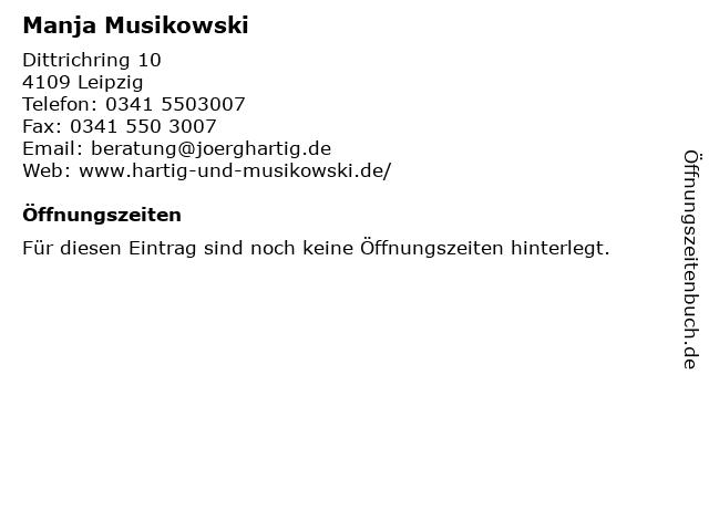 Manja Musikowski in Leipzig: Adresse und Öffnungszeiten
