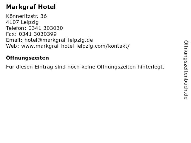 Markgraf Hotel in Leipzig: Adresse und Öffnungszeiten