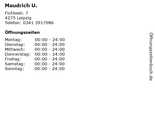 Maudrich U. in Leipzig: Adresse und Öffnungszeiten
