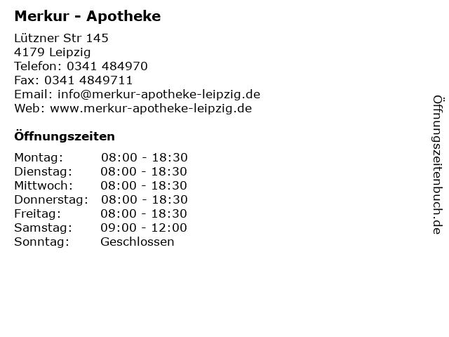 Merkur - Apotheke in Leipzig: Adresse und Öffnungszeiten