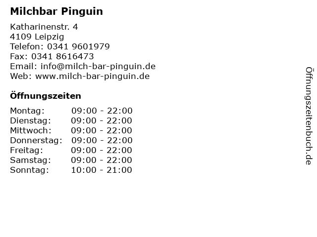 Milchbar Pinguin in Leipzig: Adresse und Öffnungszeiten