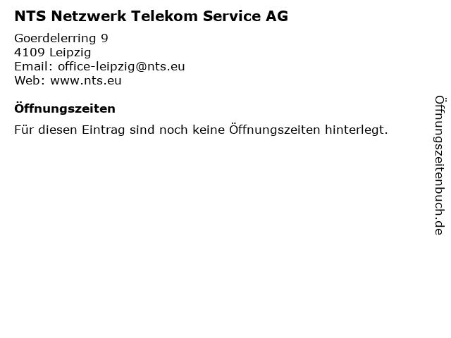 NTS Netzwerk Telekom Service AG in Leipzig: Adresse und Öffnungszeiten
