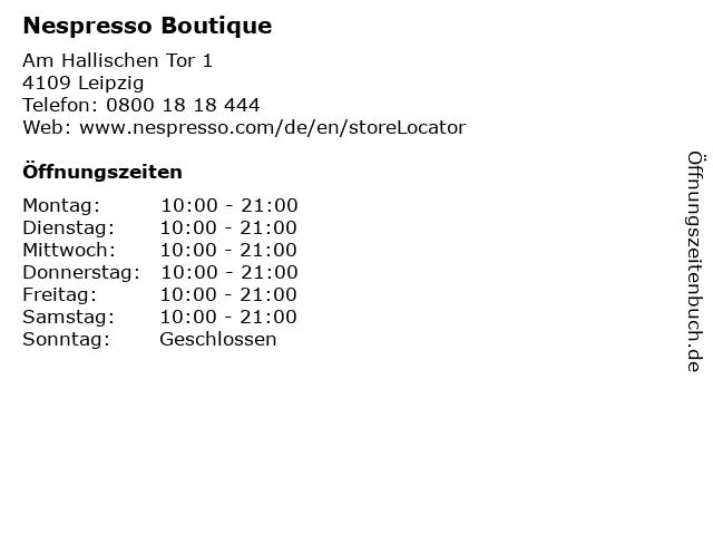 Nespresso Boutique in Leipzig: Adresse und Öffnungszeiten