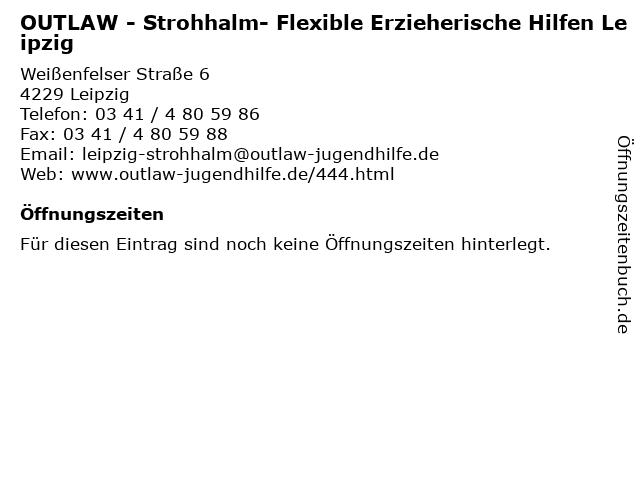 OUTLAW - Strohhalm- Flexible Erzieherische Hilfen Leipzig in Leipzig: Adresse und Öffnungszeiten