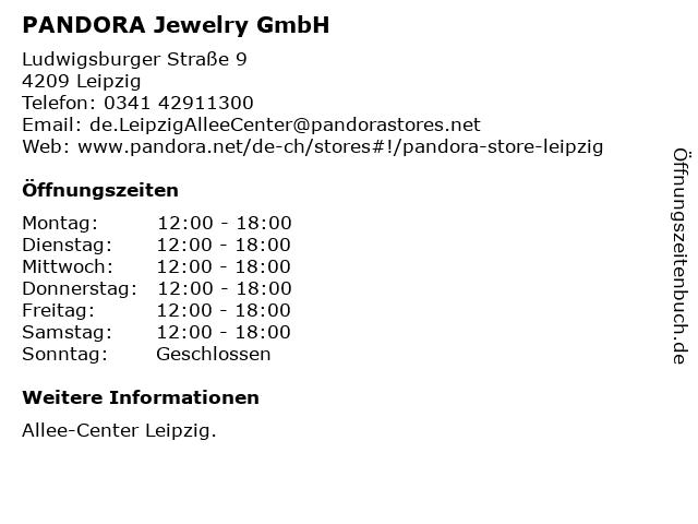 PANDORA Jewelry GmbH in Leipzig: Adresse und Öffnungszeiten