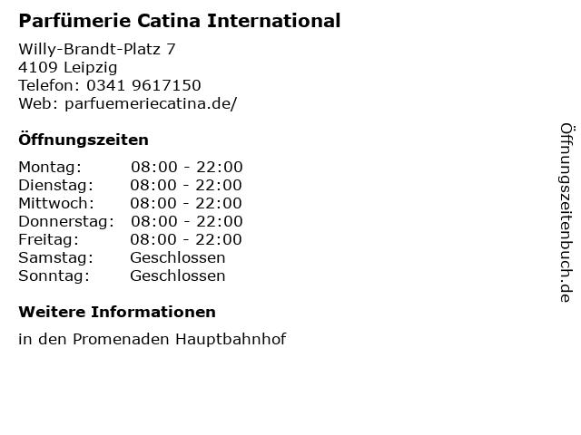 Parfümerie Catina International in Leipzig: Adresse und Öffnungszeiten