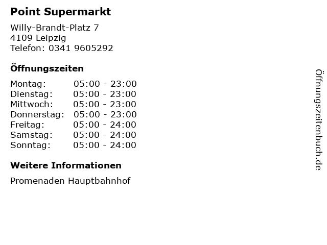 Point Supermarkt in Leipzig: Adresse und Öffnungszeiten
