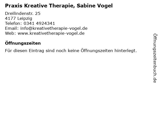 Praxis Kreative Therapie, Sabine Vogel in Leipzig: Adresse und Öffnungszeiten