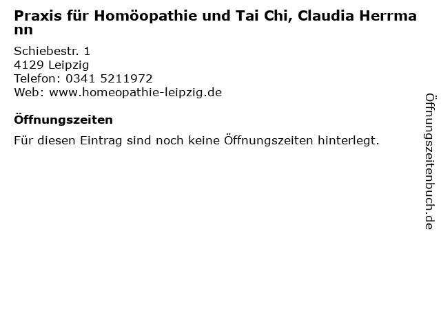 Praxis für Homöopathie und Tai Chi, Claudia Herrmann in Leipzig: Adresse und Öffnungszeiten