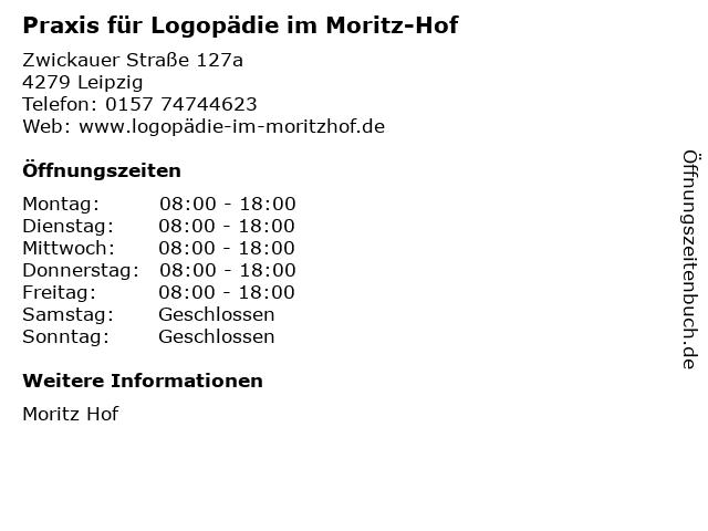 Praxis für Logopädie im Moritz-Hof in Leipzig: Adresse und Öffnungszeiten