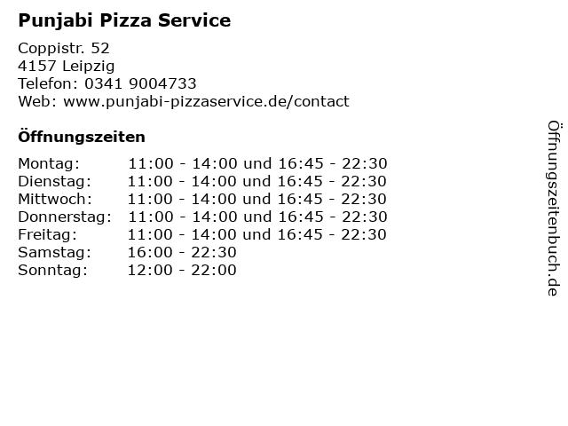 Punjabi Pizza Service in Leipzig: Adresse und Öffnungszeiten