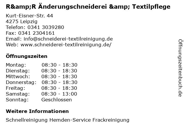 R&R Änderungschneiderei & Textilpflege in Leipzig: Adresse und Öffnungszeiten