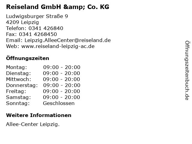 Reiseland GmbH & Co. KG in Leipzig: Adresse und Öffnungszeiten