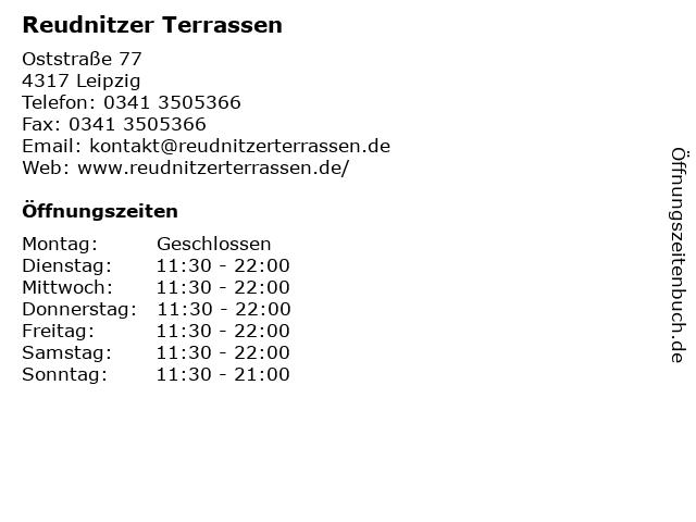 Reudnitzer Terrassen in Leipzig: Adresse und Öffnungszeiten