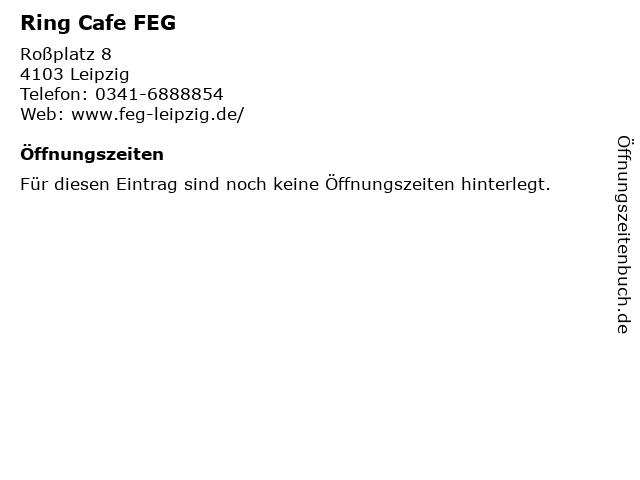 Ring Cafe FEG in Leipzig: Adresse und Öffnungszeiten