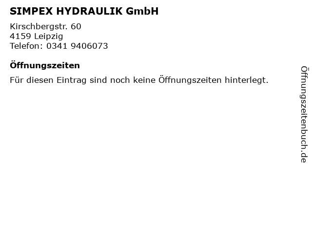 SIMPEX HYDRAULIK GmbH in Leipzig: Adresse und Öffnungszeiten
