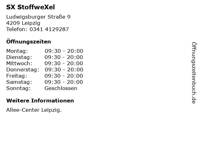 SX StoffweXel in Leipzig: Adresse und Öffnungszeiten