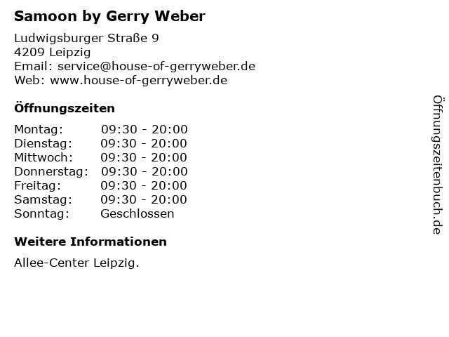 Samoon by Gerry Weber in Leipzig: Adresse und Öffnungszeiten