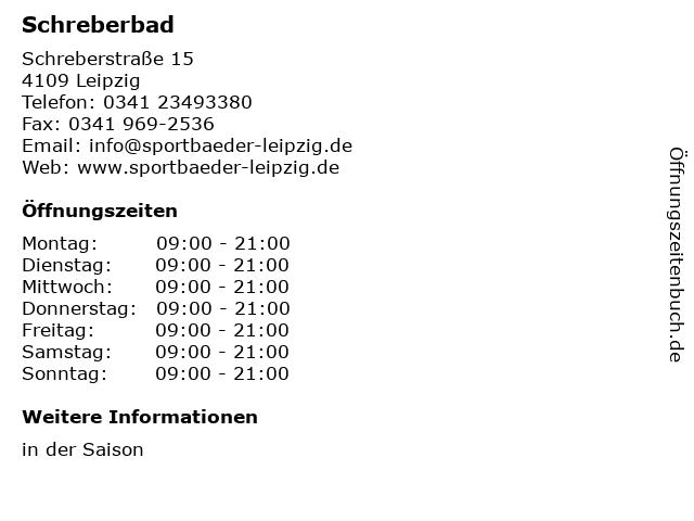Schreberbad in Leipzig: Adresse und Öffnungszeiten