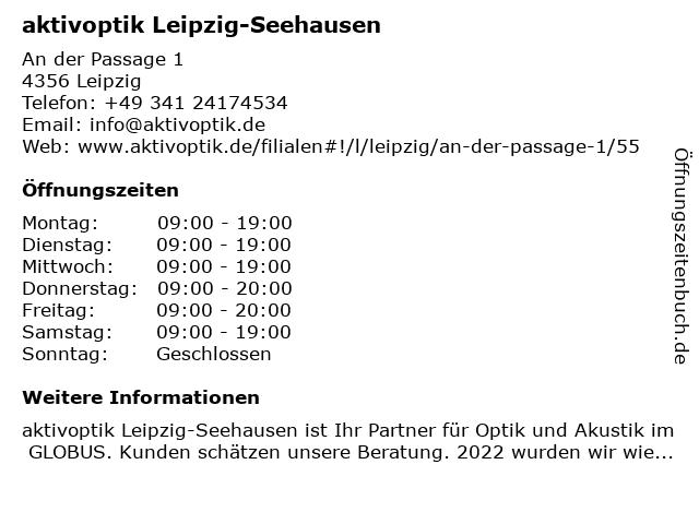 aktivoptik in Leipzig-Seehausen: Adresse und Öffnungszeiten