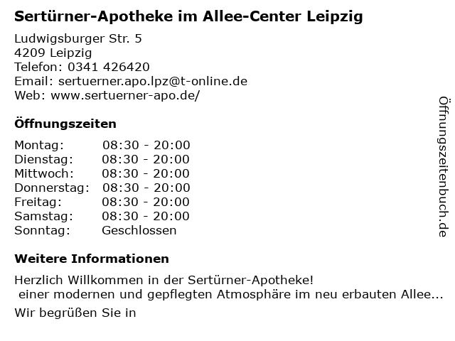 Sertürner-Apotheke in Leipzig: Adresse und Öffnungszeiten