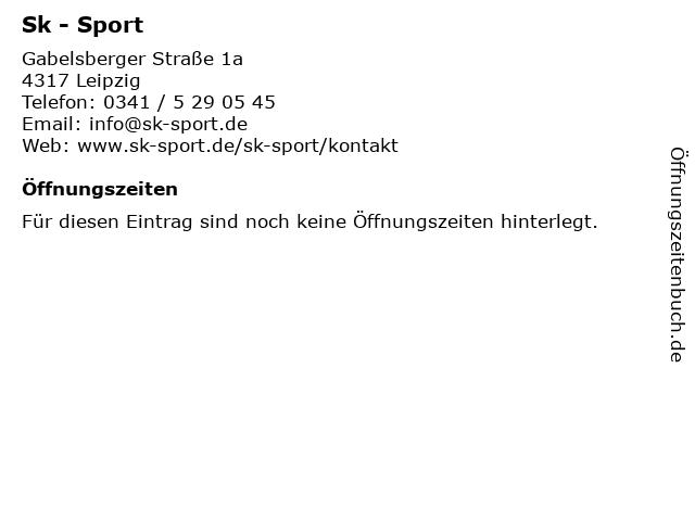 Sk - Sport in Leipzig: Adresse und Öffnungszeiten