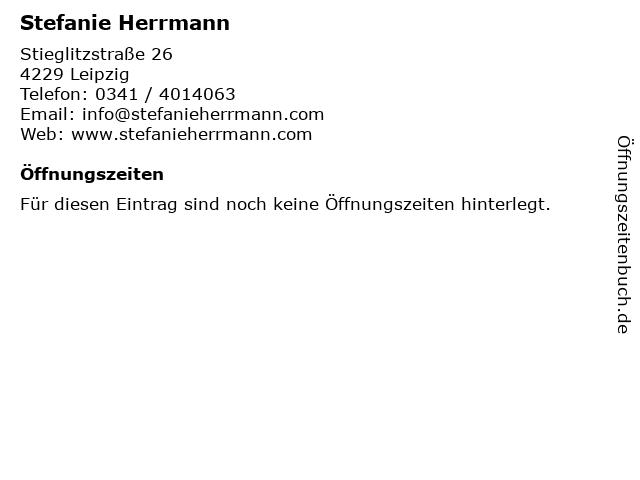 Stefanie Herrmann in Leipzig: Adresse und Öffnungszeiten