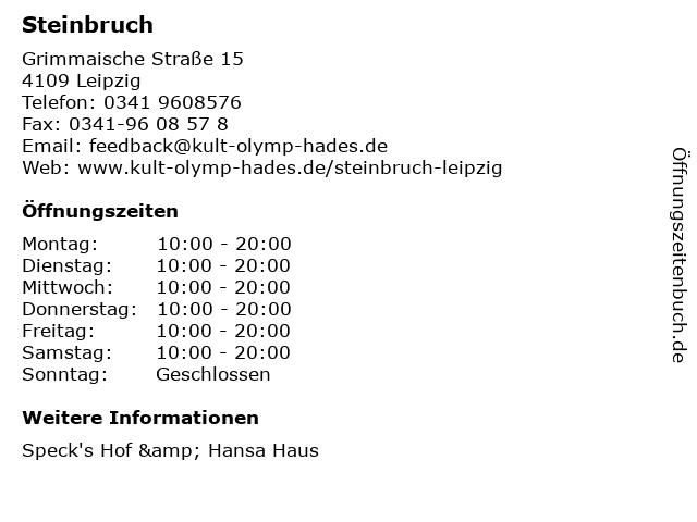 Steinbruch in Leipzig: Adresse und Öffnungszeiten
