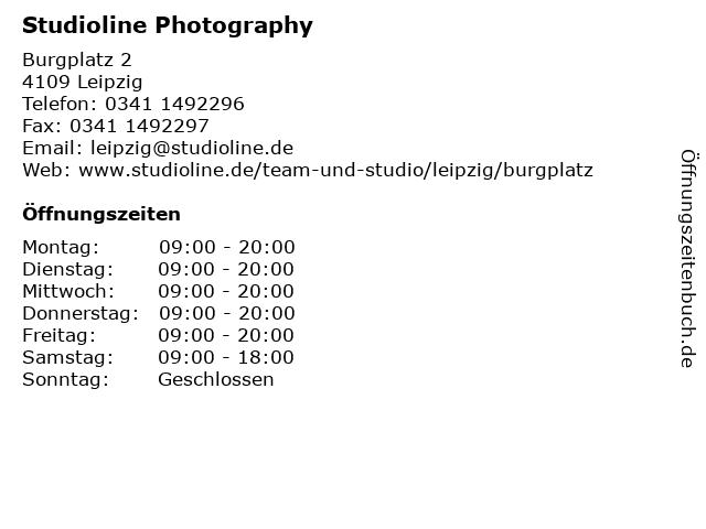 Studioline Photography in Leipzig: Adresse und Öffnungszeiten