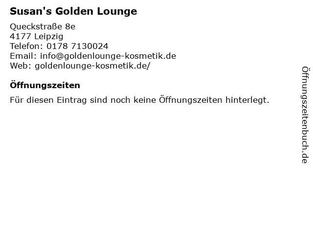 Susan's Golden Lounge in Leipzig: Adresse und Öffnungszeiten